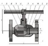 Кран шаровой цельносварной фланцевый с встроенным в шар обратным клапаном
