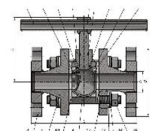 Кран шаровой разборный с обратным клапаном, с функцией ИФС