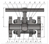 Кран шаровой разборный с функцией ИФС