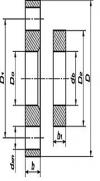 Фланцы стальные свободные на приварном кольце (ГОСТ 12822-80)